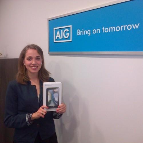 Победител в томболата на AIG Europe Limited е Елена Златкова