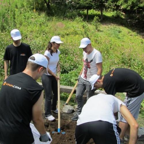 Стажанти на VIVACOM в доброволческа акция в района на Паничище