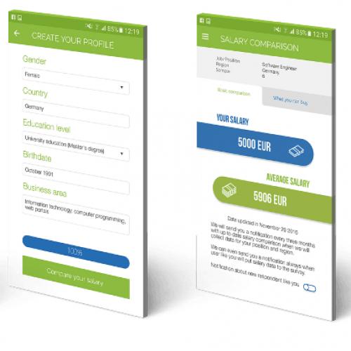 Мобилното приложение Paylab Salary Checker с iOS версия