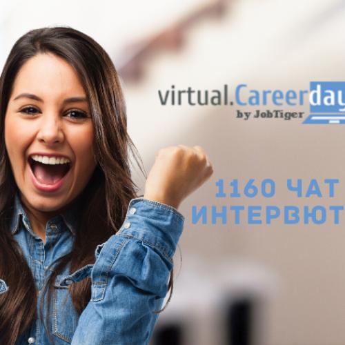 С 1160 проведени интервюта завършиха Виртуални дни на кариерата 2020