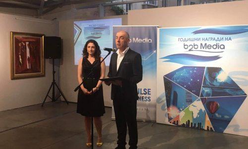 """Първо място в категория """"Иновации в криза"""" за JobTiger на Годишните награди на b2b Мedia"""